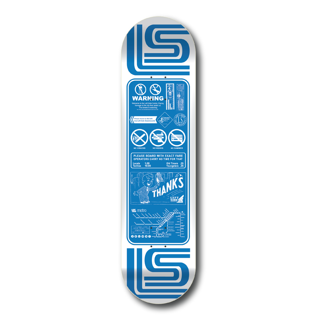'Thanks For Riding'  -  2019 Blue Skate Deck