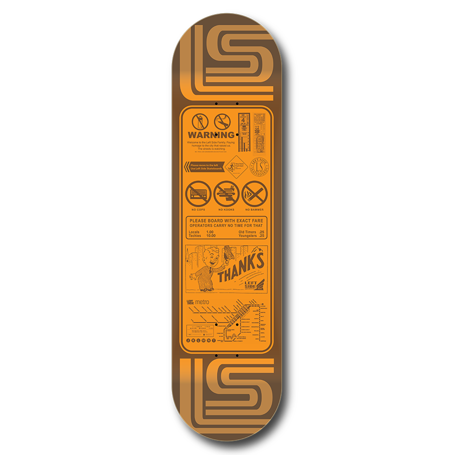 'Thanks For Riding'  -  1980's Skate Deck