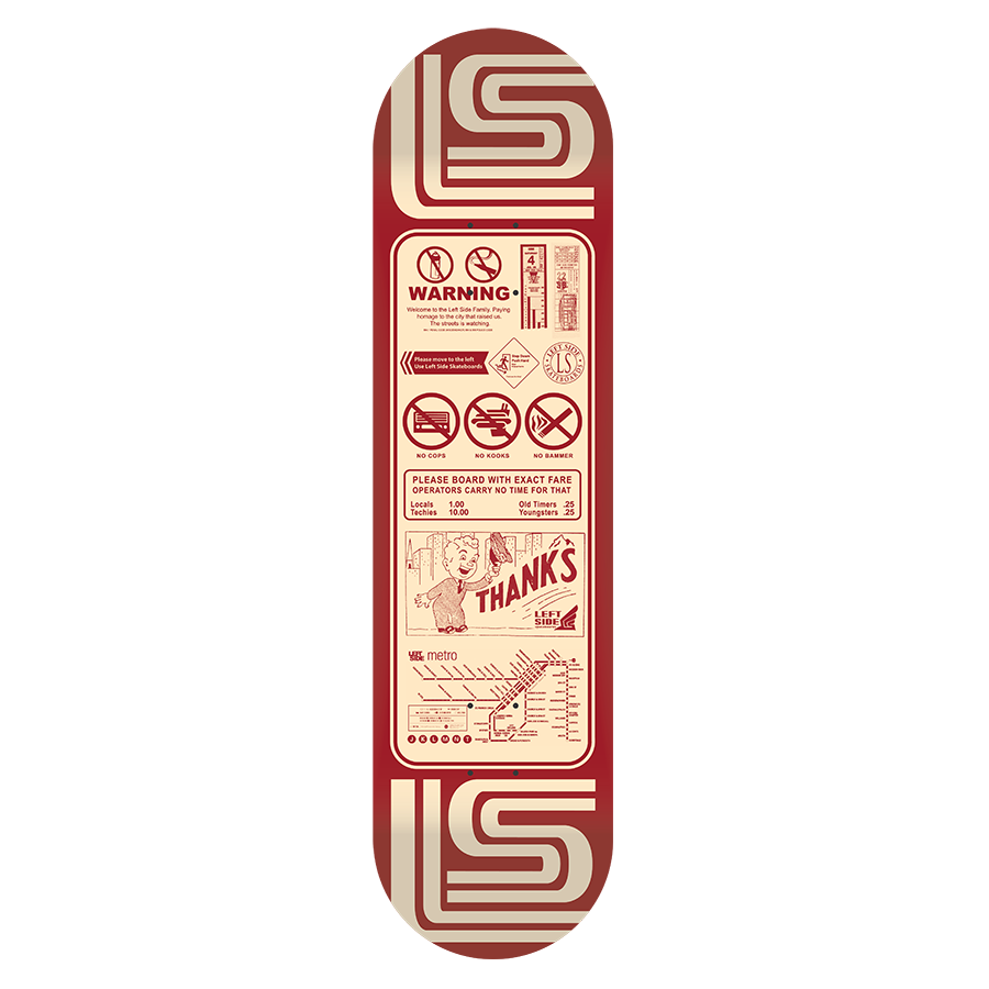 'Thanks For Riding'  -  1960's Skate Deck