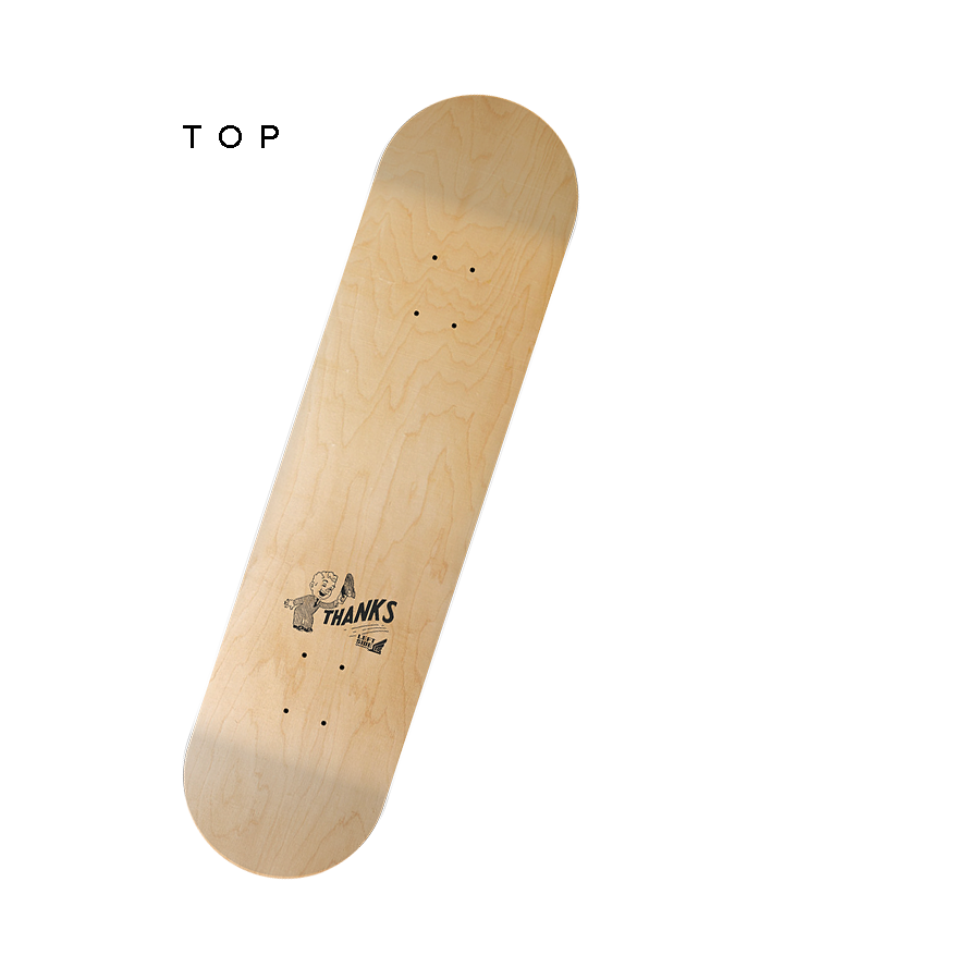 'Thanks For Riding'  -  1970's Skate Deck
