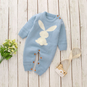 Baby Unisex Knitting Rabbit Rompers Hot Selling Jumpsuit