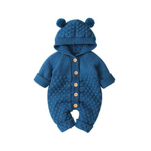 Load image into Gallery viewer, Baby Unisex Hooded Knitted Rompers Sweater Jumpsuit
