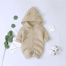 Load image into Gallery viewer, Baby Unisex Sweater Hooded Rompers Winter Warm Jumpsuit