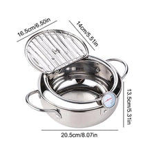 Load image into Gallery viewer, Stainless steel deep frying pot