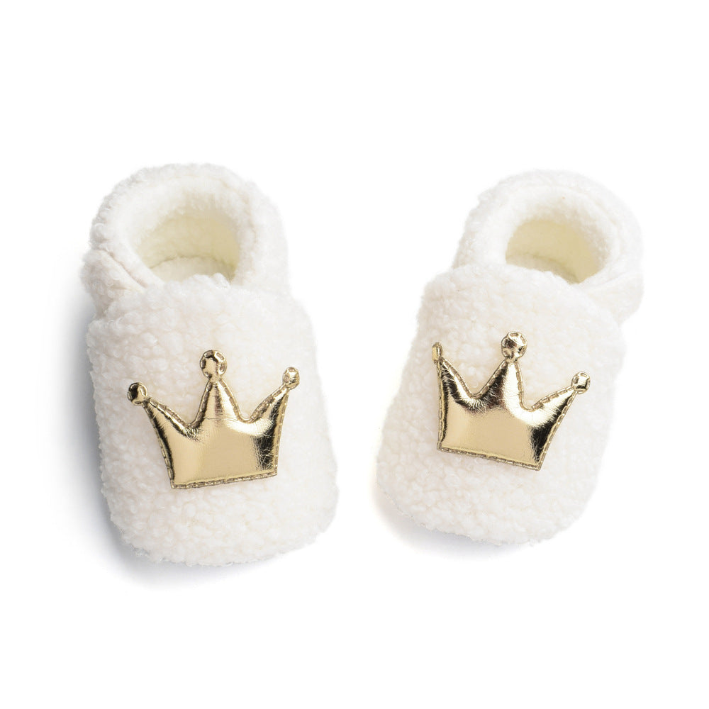 0-12M Toddler Baby Winter Furry Shoes First Walkers Shoes