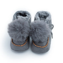 Load image into Gallery viewer, 0-12M Toddler Baby Winter Pompom Ball Cute Shoes First Walkers Shoes