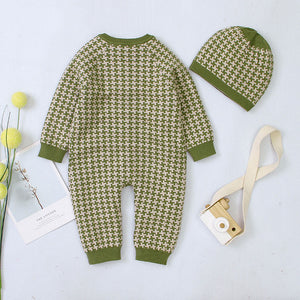 Baby Unisex Cotton Rompers With Hat Jumpsuit