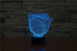 Rose 3D Illusion Lamp