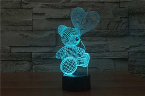 Teddy With Balloon 3D Illusion Lamp