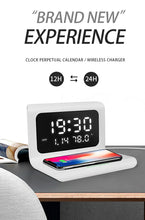 Load image into Gallery viewer, 2020 New Digital Alarm Clock With Wireless Charging Station
