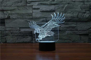 Eagle 3D Illusion Lamp
