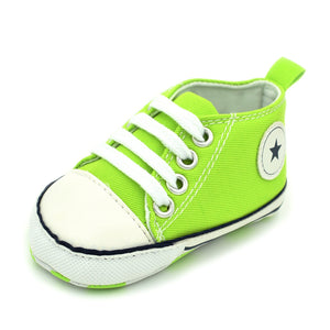 Toddler Baby Lace Up Canvas Shoes First Walkers Shoes