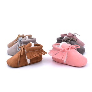 0-12M Toddler Baby Winter Tassel Soft Shoes First Walkers Shoes