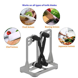 Knife Sharpener - Upgrade Made of Full Metal Bracket