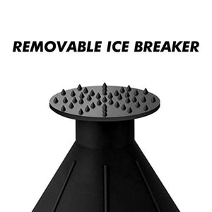 6.8″ Round Ice Scraper with 3 Ice Breakers