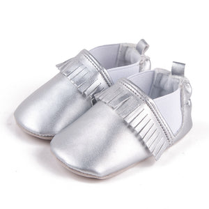 Toddler Baby PU Tassel Winter Warm Shoes First Walkers Shoes