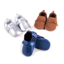 Load image into Gallery viewer, Toddler Baby PU Tassel Winter Warm Shoes First Walkers Shoes