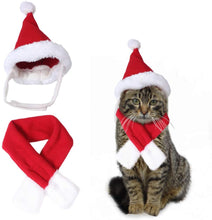 Load image into Gallery viewer, Hat & Scarf Xmas Costume Suit Dress Up for Pet Dog Cats