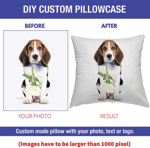 Personalized Custom Pillow - Custom photo Pillow with Duplex Print Image/Text - Unique Gift for Your Lover