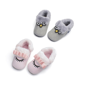 0-12M Toddler Baby Warm Winter Soft Shoes First Walkers Shoes