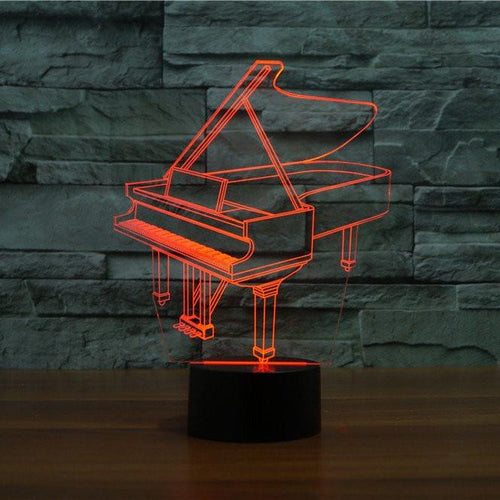Piano 3D Illusion Lamp