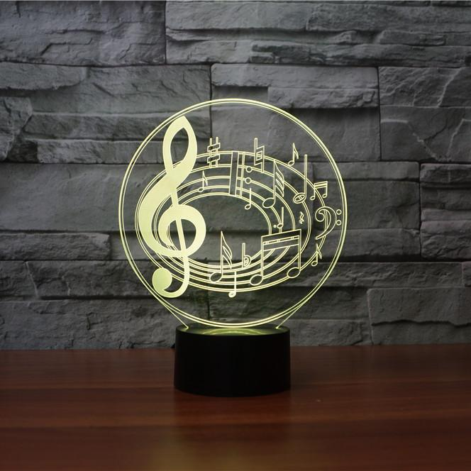 Musical Notes 3D Illusion Lamp