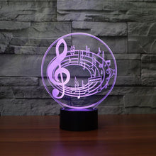 Load image into Gallery viewer, Musical Notes 3D Illusion Lamp