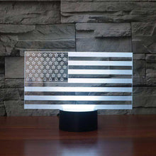 Load image into Gallery viewer, US Flag Stripes 3D Illusion Lamp