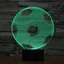 Load image into Gallery viewer, Soccer 3D Illusion Lamp