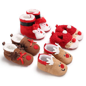 Christmas Toddler Baby Shoes (No Real Fur)