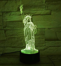 Load image into Gallery viewer, Statue Of Liberty 3D Illusion Lamp