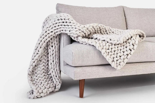 High-end Chunky Knit Blanket Mat