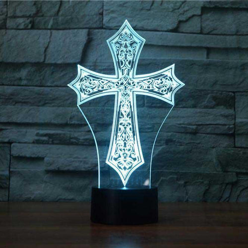 Cross 3D Illusion Lamp