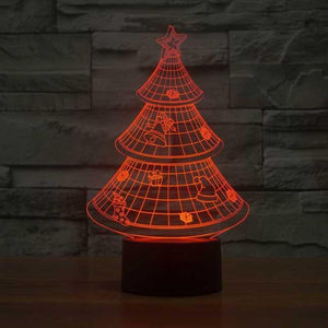 Christmas Tree 3D Illusion Lamp