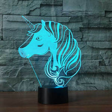 Load image into Gallery viewer, Unicorn V2 3D Illusion Lamp