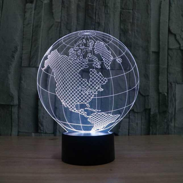 Globe 3D Illusion Lamp