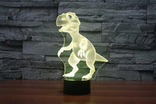 Load image into Gallery viewer, Dinosaur 3D Illusion Lamp