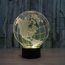 Load image into Gallery viewer, Globe 3D Illusion Lamp