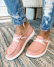 Load image into Gallery viewer, Women's Canvas Lace-Up Loafers