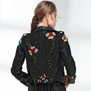 Floral Gothic Jacket (No real leather)