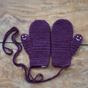 Mittens With Smiley Faces Handmade For Adults, Babies and Kids