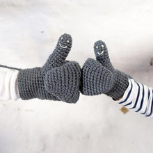 Load image into Gallery viewer, Mittens With Smiley Faces Handmade For Adults, Babies and Kids