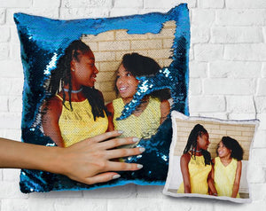 Personalized Photo Sequin Pillow