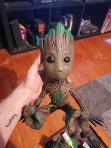 3D printed and hand painted Baby Groot.