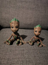 Load image into Gallery viewer, 3D printed and hand painted Baby Groot.