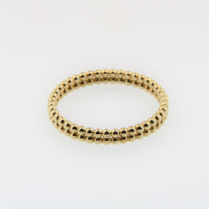 Gold Double Row Beaded RIng