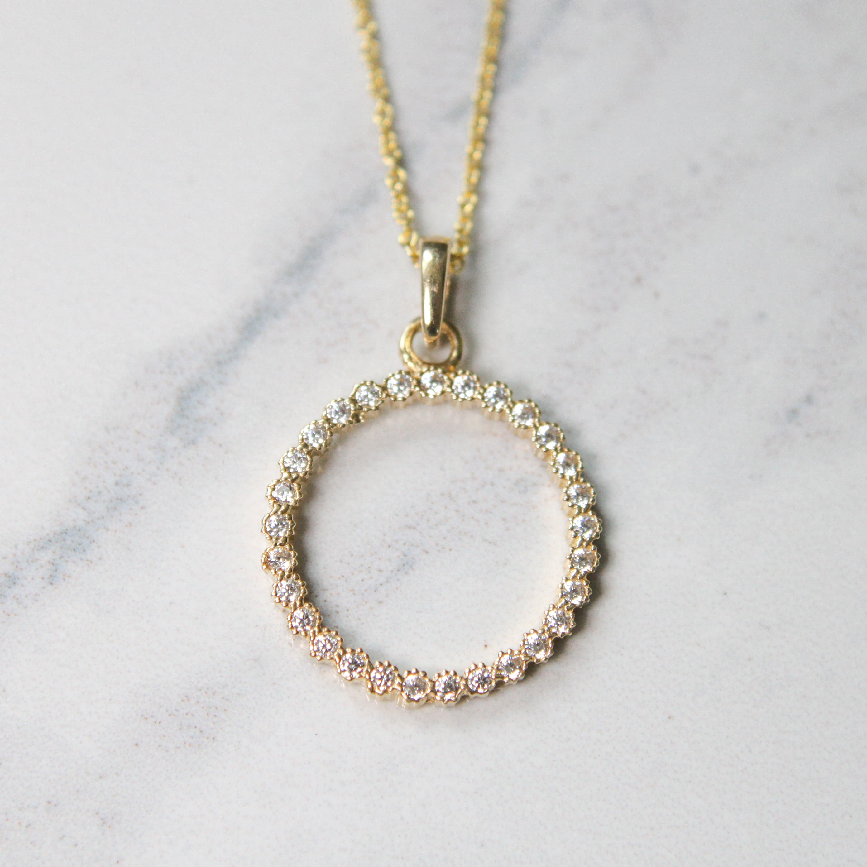 Cubic Zirconia Circle of Life Necklace