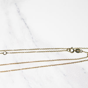 Adjustable Gold Rolo Chain