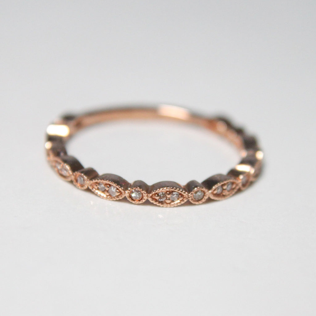 Natural Diamond Stackable Ring