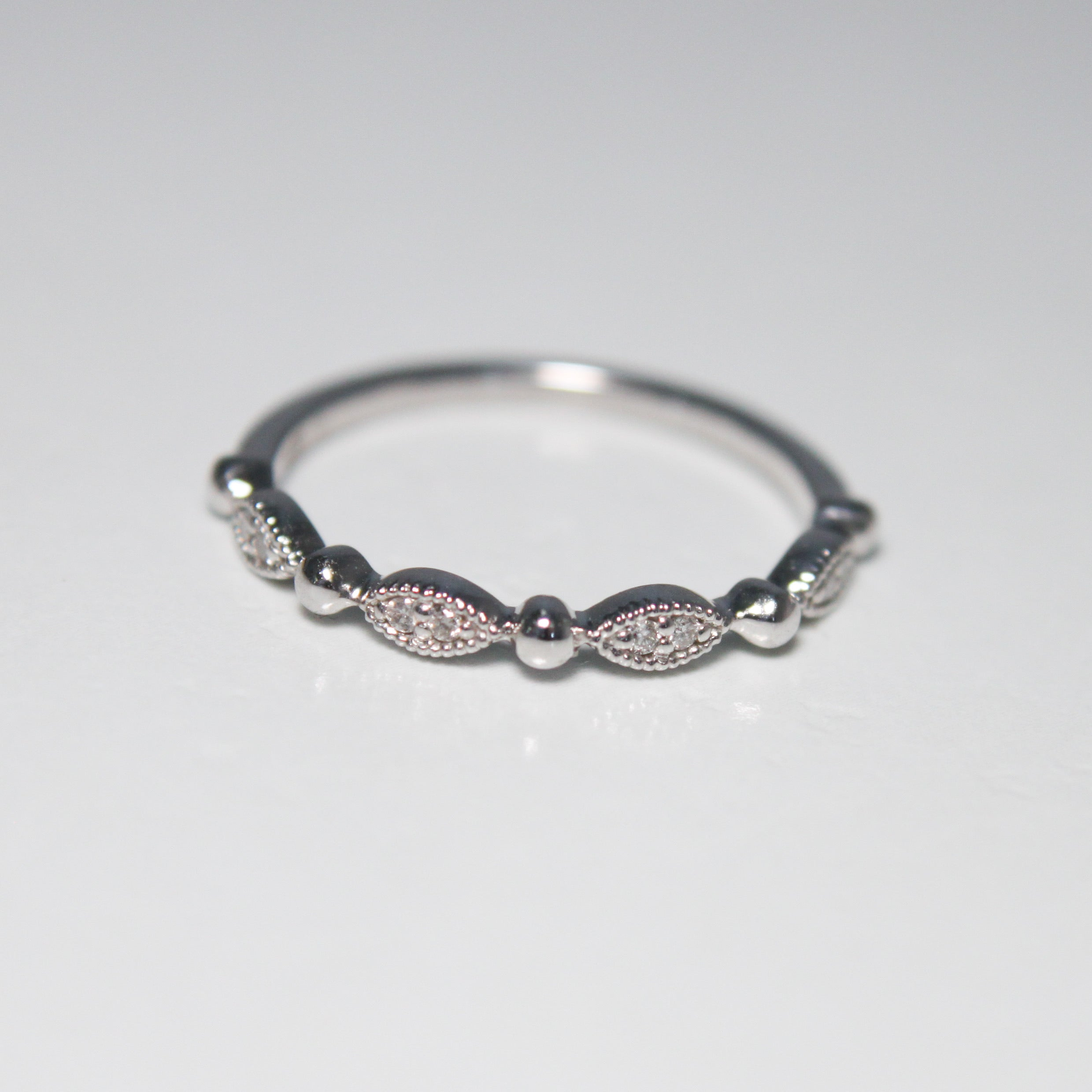 Natural Diamond Marquise Stackable Band